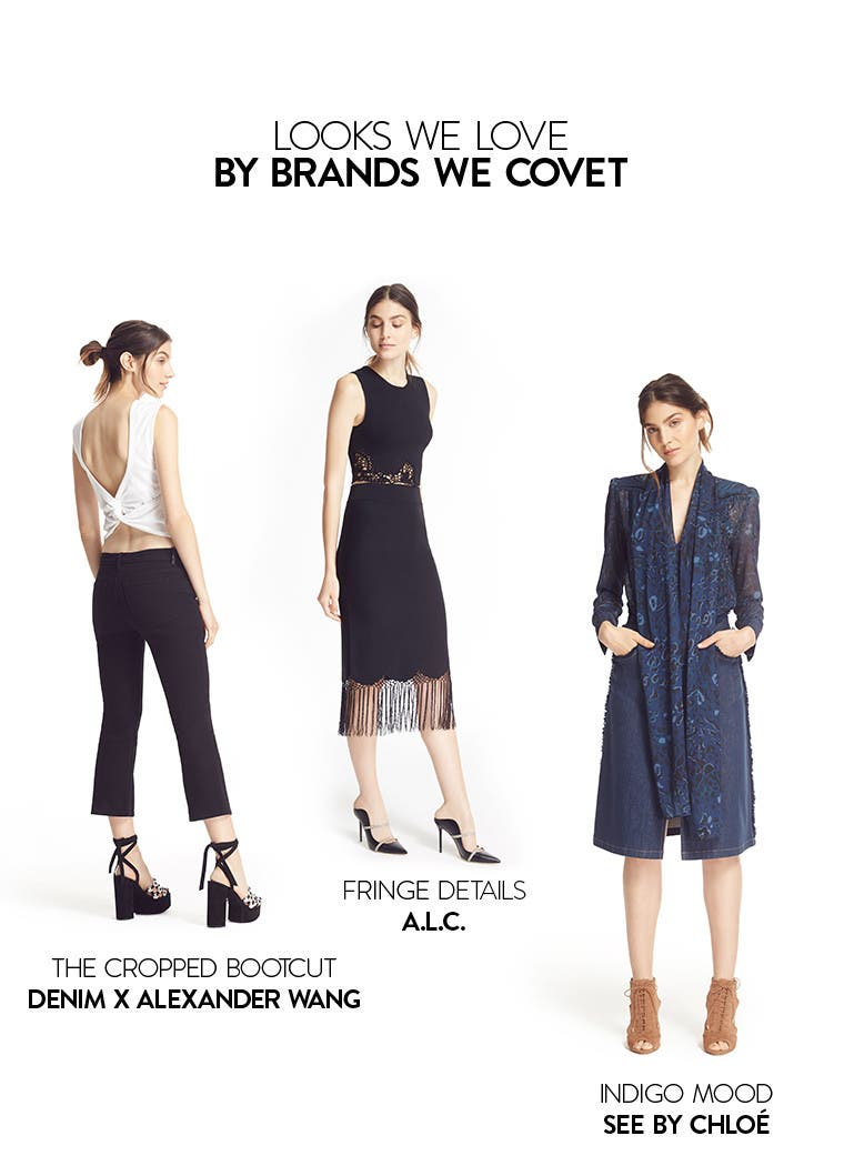 Looks we love by brands we covet: A.L.C., Denim X Alexander Wang, See by Chloe and more.