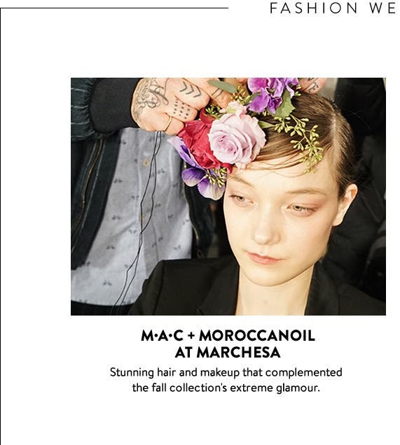 Backstage beauty: MAC and Moroccanoil at Marchesa