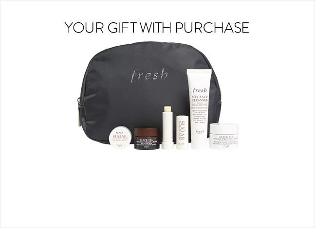 Fresh gift with purchase.