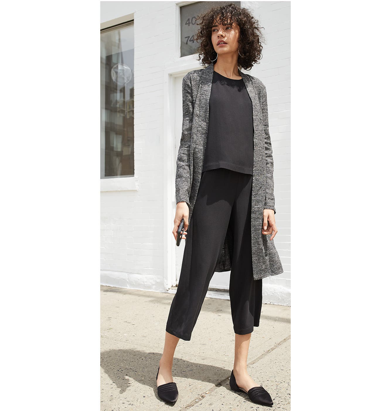 Effortless Eileen Fisher pieces to mix and layer.
