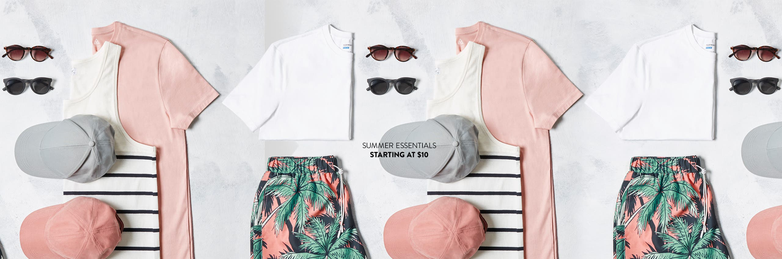 Summer essentials starting at $10.
