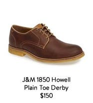 J&M 1850 Howell Plain-Toe Derby.