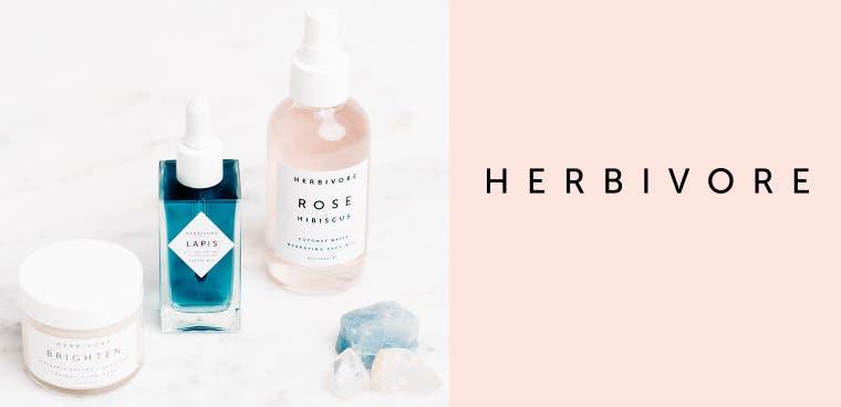 Herbivore Botanicals skin care.