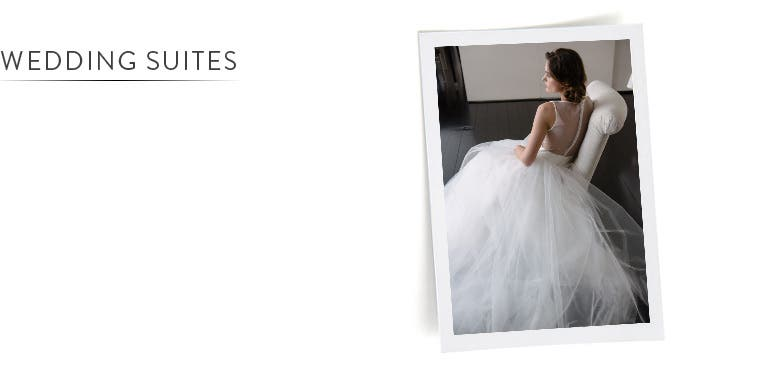 Wedding dresses at our Wedding Suite locations.