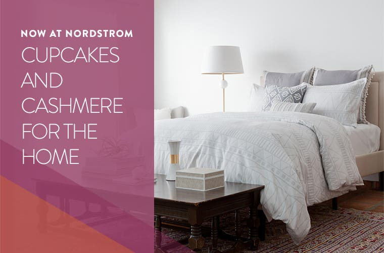 Now at Nordstrom: cupcakes and cashmere for the Home.