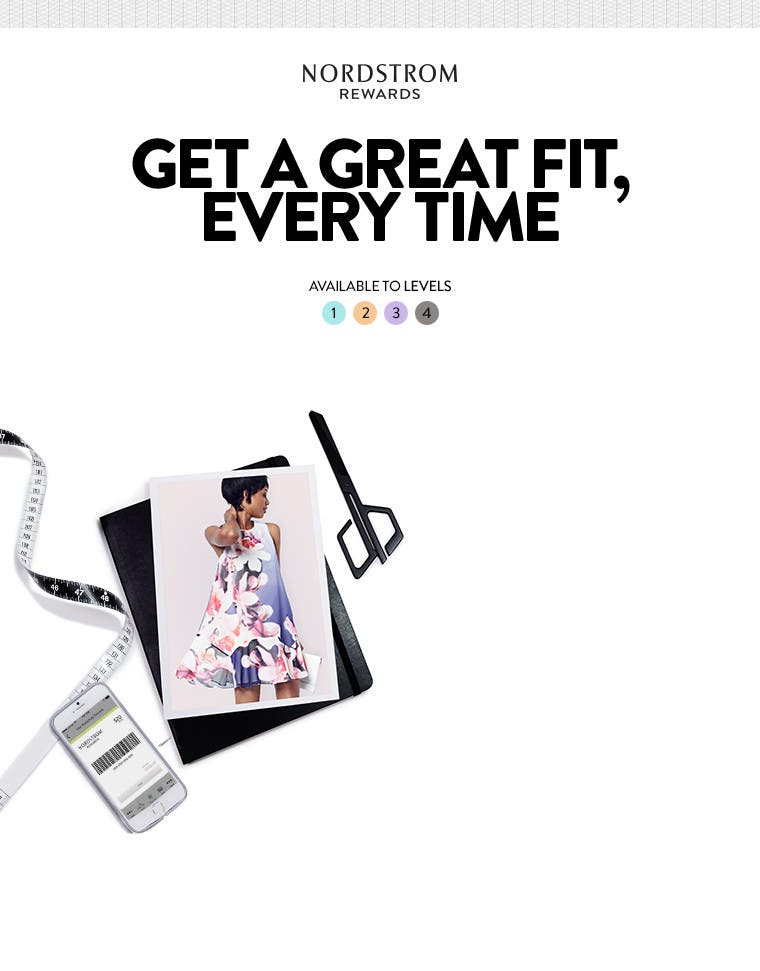 Nordstrom Rewards: Get a great fit, every time.