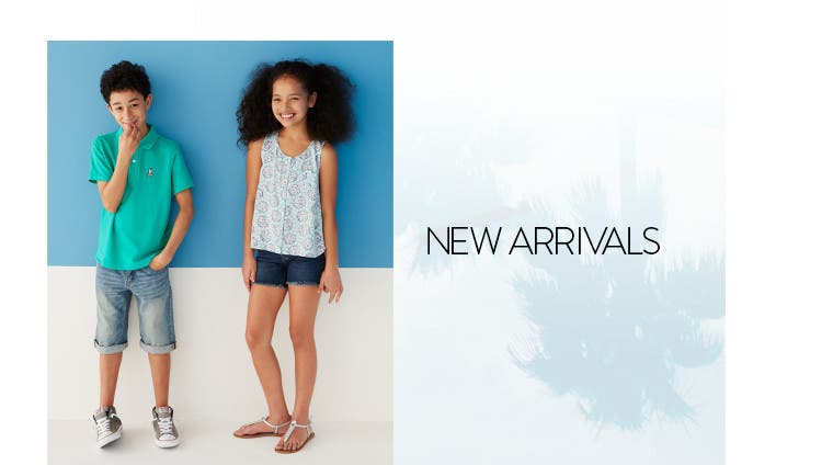 New arrivals: boys' and girls' summer essentials.