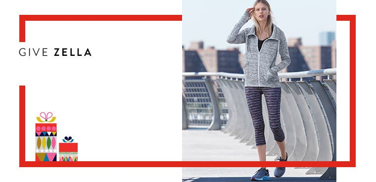 Give Zella: women's workout clothing.
