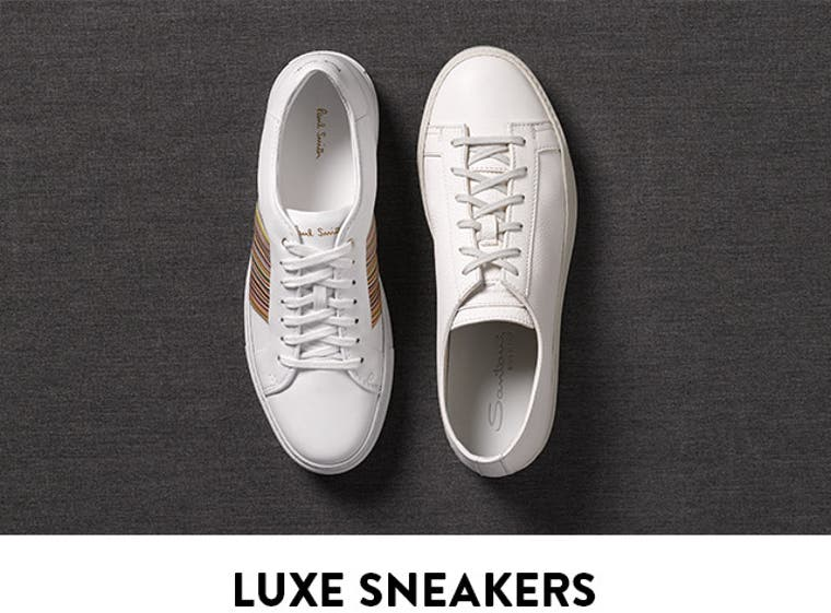 The shoes you need now: white-hot sneakers. Shop now.