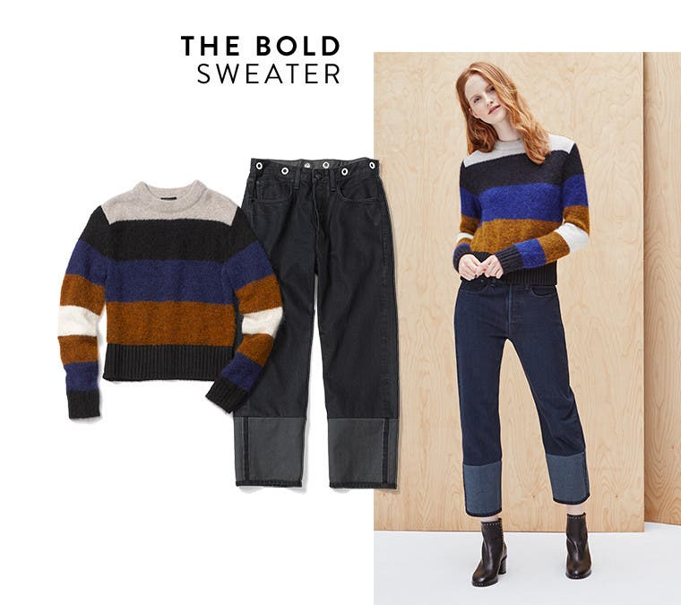 The bold sweater.