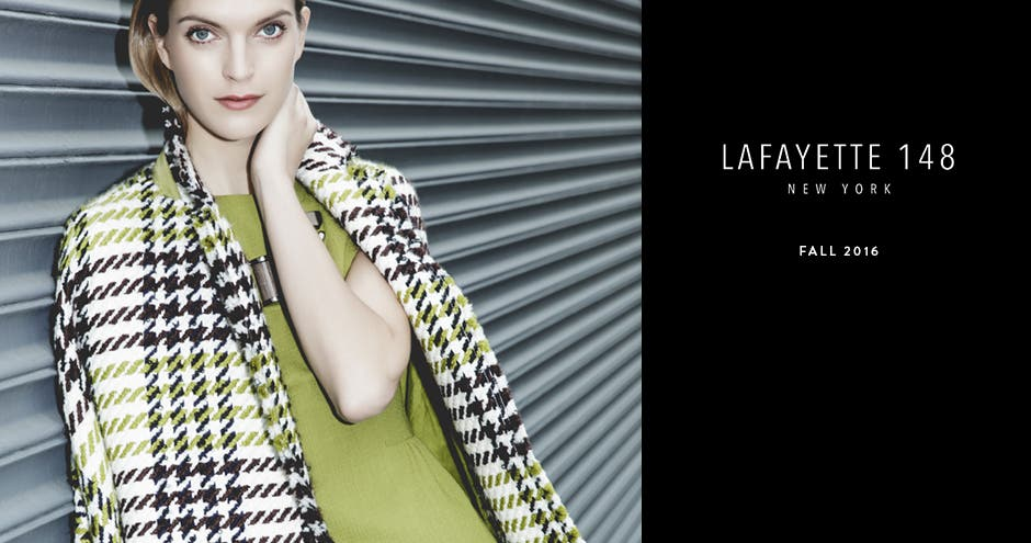 Lafayette 148 New York 20th anniversary collection.