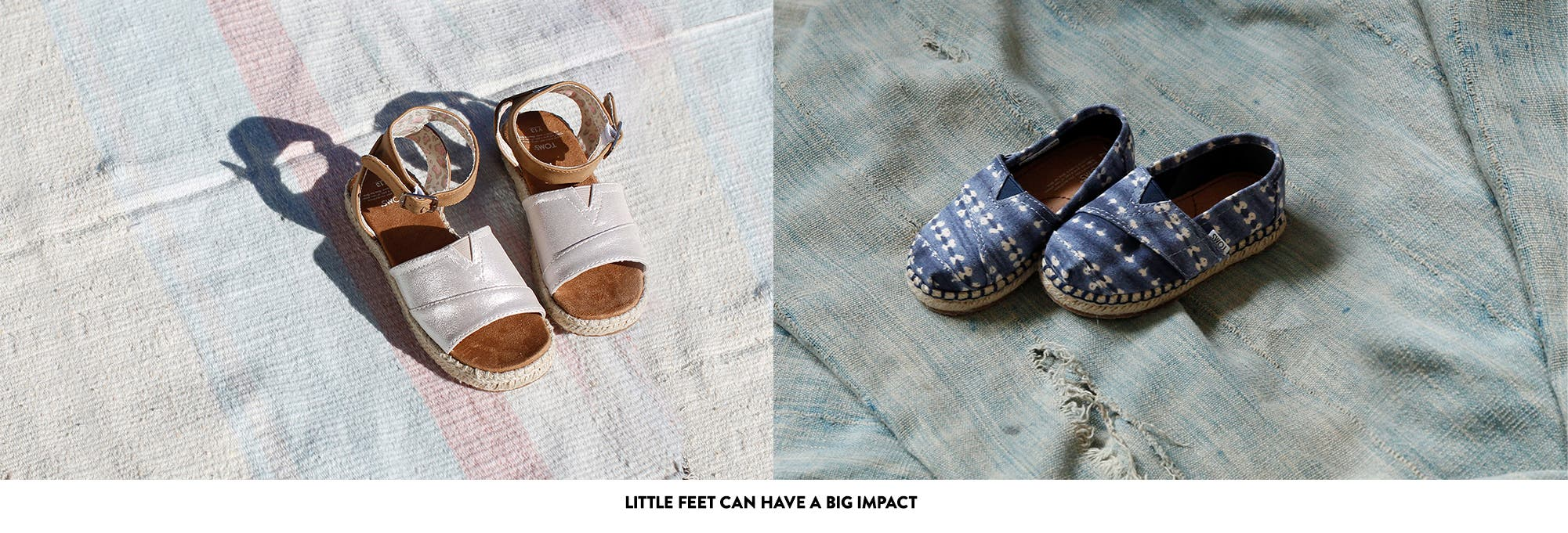 Little feet can have a big impact. TOMS kids' shoes.