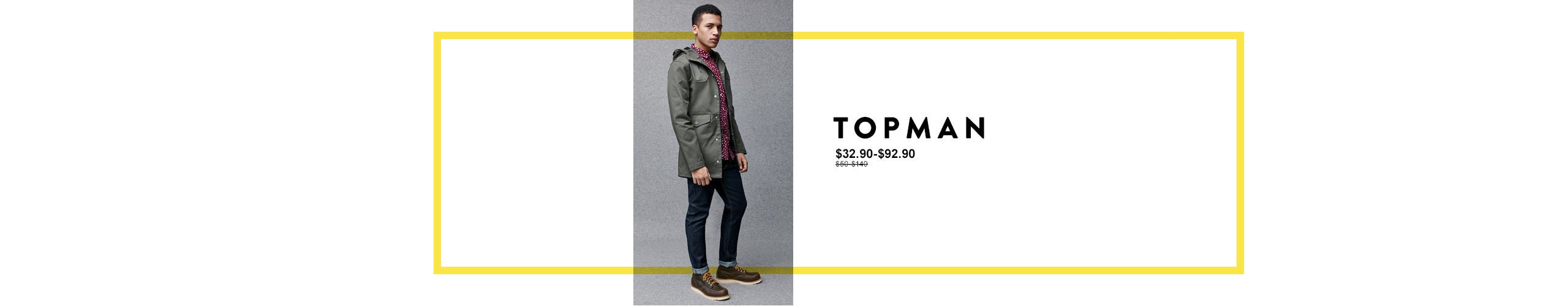 Anniversary Sale: Save on clothing for men from Topman.