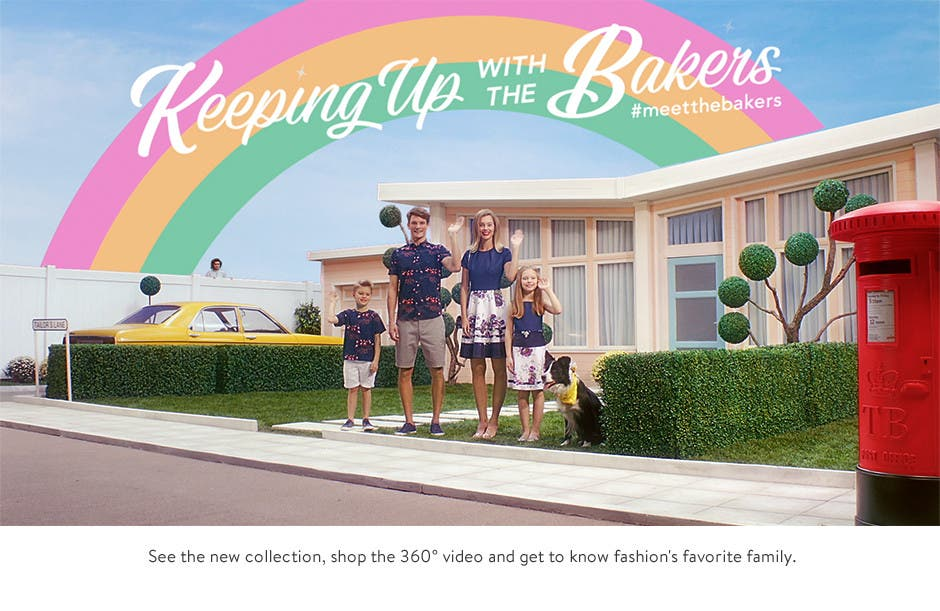 Keeping up with the Bakers: shoppable video from Ted Baker London.