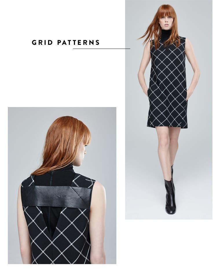 Grid patterns.