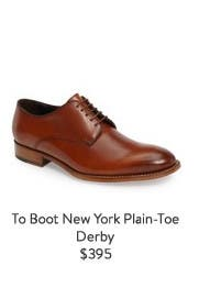 To Boot New York Plain-Toe Derby.