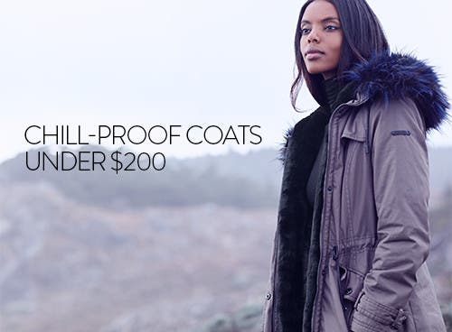 Chill-proof women's coats under $200.
