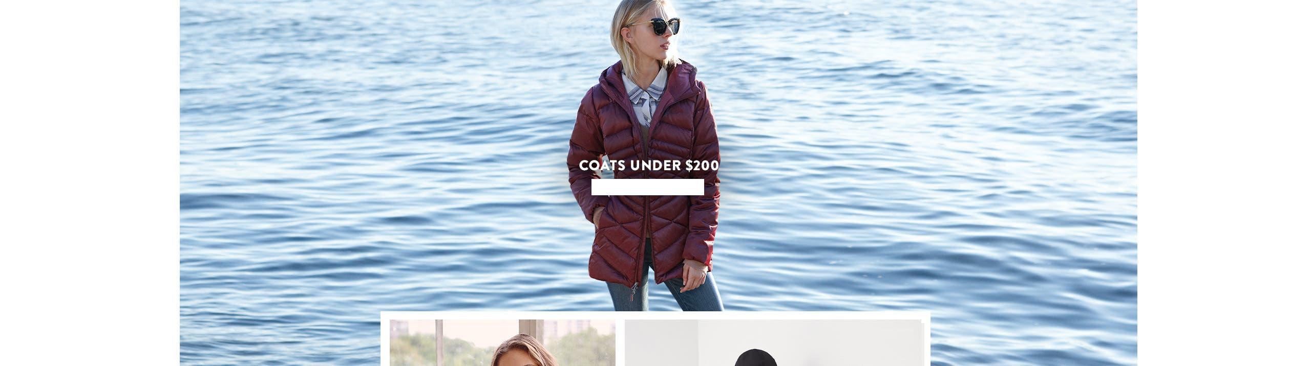 Coats under $200.
