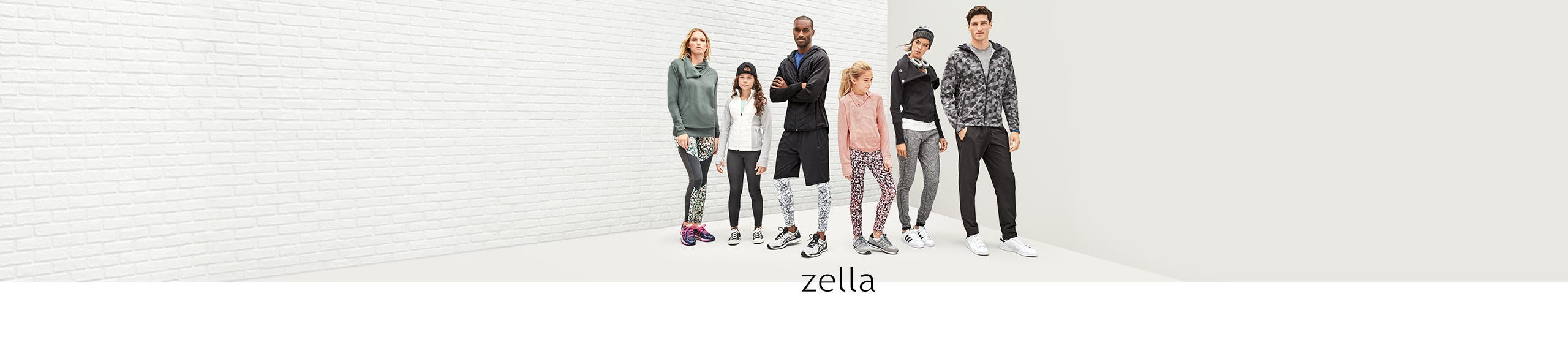 Zella for women, men and kids.