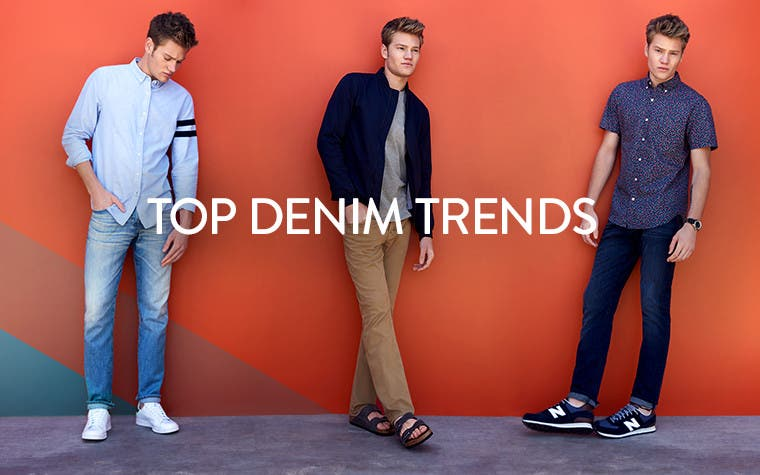 Top denim trends. Men's jeans.