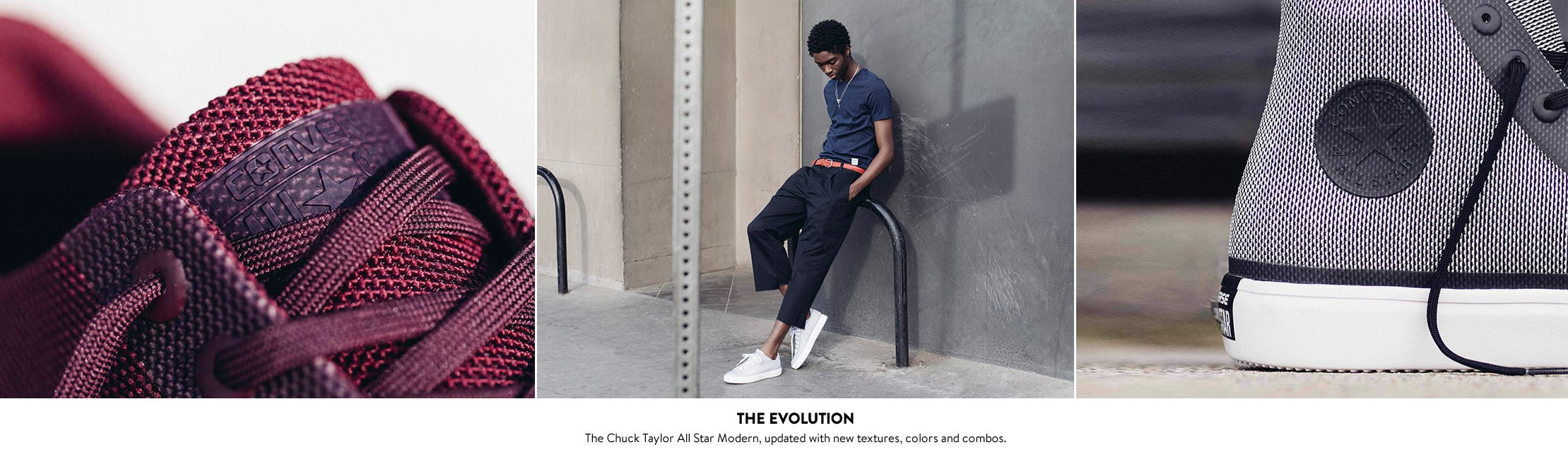 The Evolution: Converse for men.