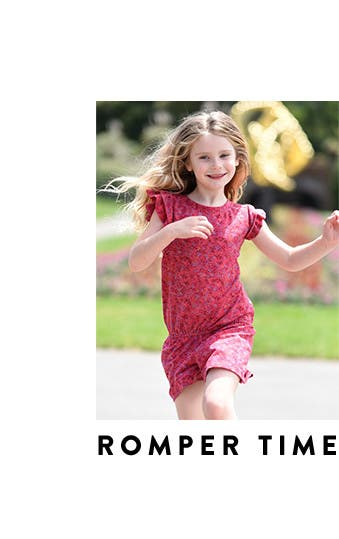 Romper time: girls' dresses and rompers.