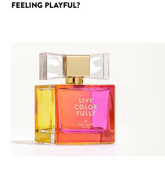 Feeling playful: fragrance for spring.