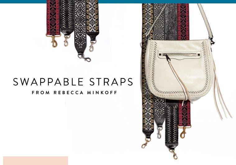 Swappable bag straps from Rebecca Minkoff.