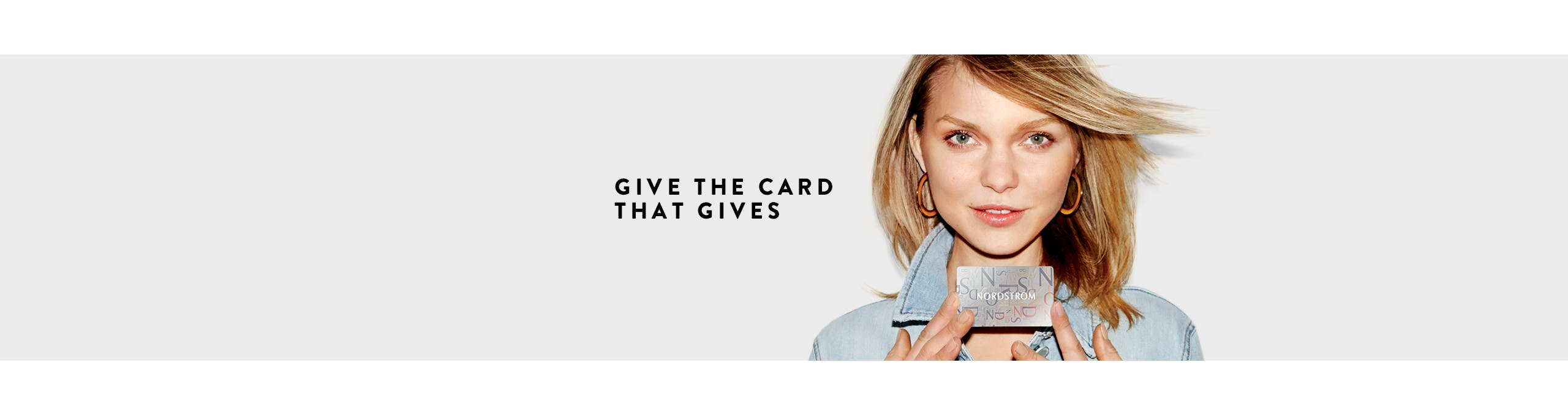 Give the card that gives.