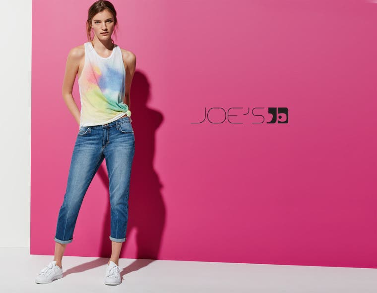 Joe's clothing for women, men and kids.