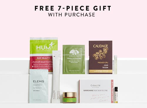 Free 7-piece gift with purchase.