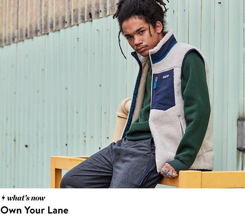 Own your lane: new men's trend arrivals.