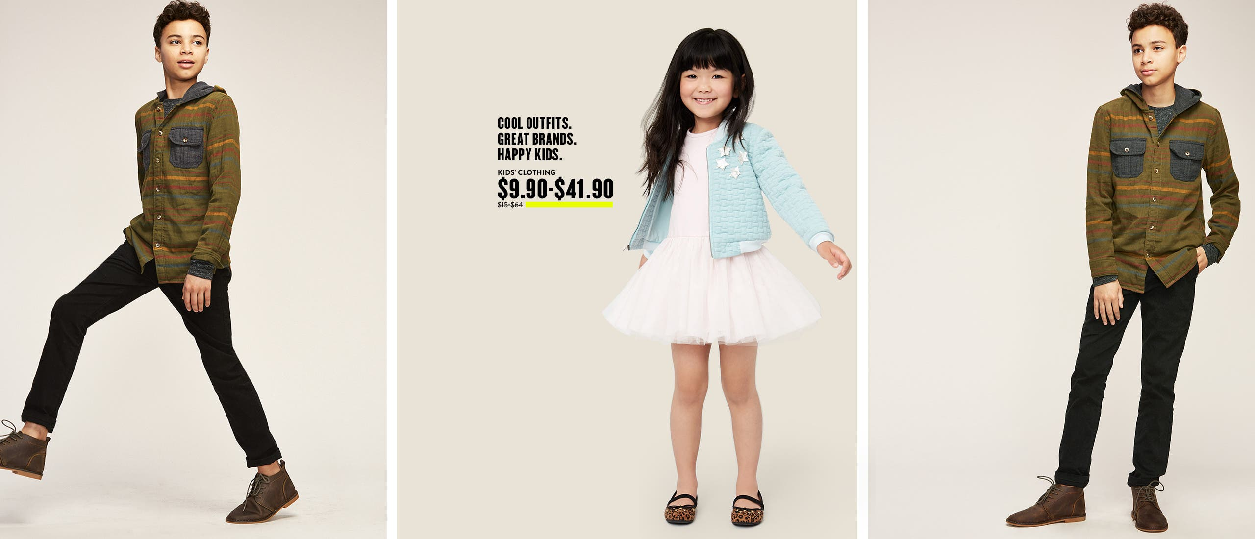 Cool outfits, happy kids. Girls' clothes at Anniversary Sale.