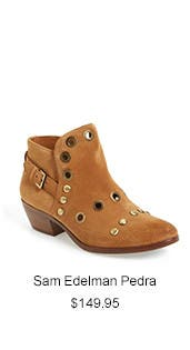 Sam Edelman Pedra Grommeted Split Shaft Bootie.