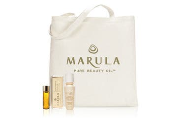 Marula Pure Beauty Oil gift with purchase.