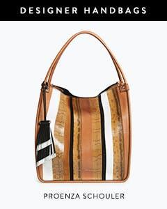 Designer handbags: Proenza Schouler snakeskin tote bag.