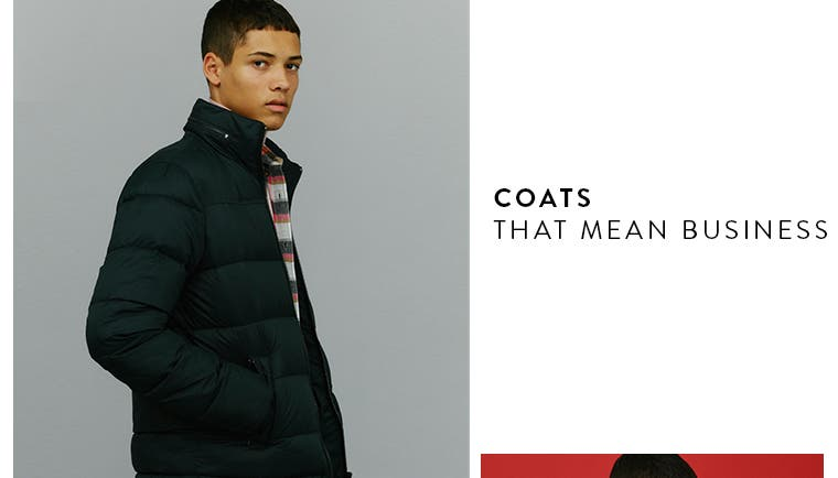 Coats that mean business.