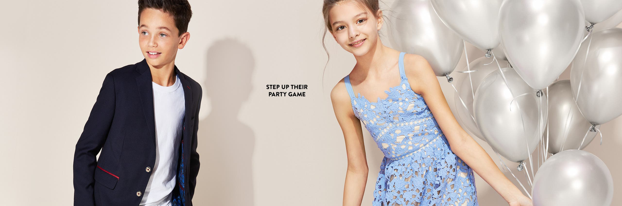 Step up their party game with new special-occasion clothing for kids.