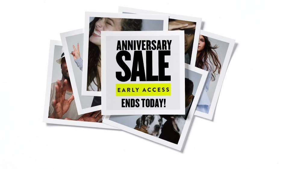 Anniversary Sale Early Access ends today! Want in early? The card's the key.
