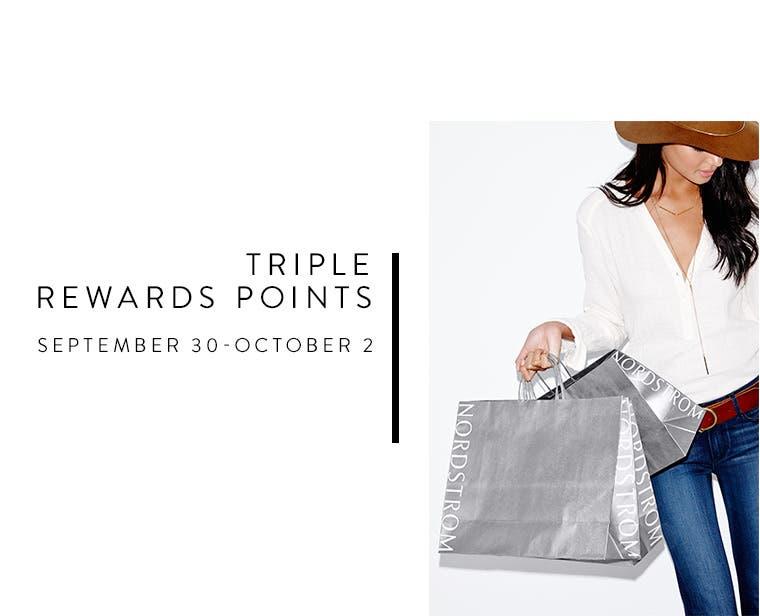 Triple rewards points, September 30-October 2.