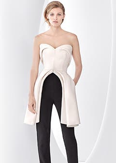 Cutting-edge designer collections: Brandon Maxwell eveningwear.
