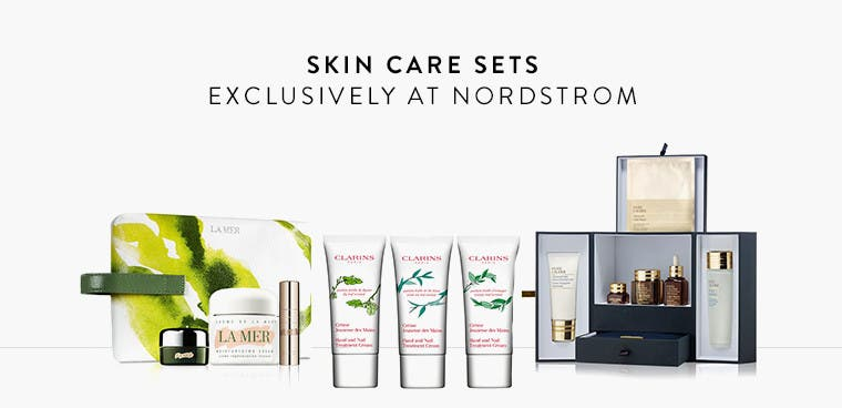 Skin care sets exclusively at Nordstrom.