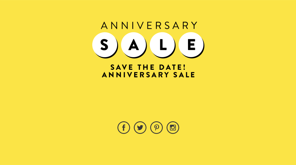 Anniversary Sale.