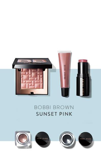 Bobbi Brown Sunset Pink collection.