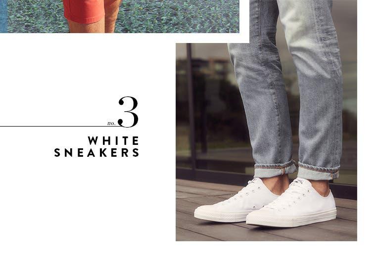 3: white sneakers.