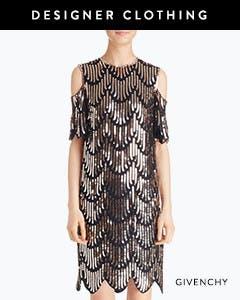 Designer clothing: Givenchy dress.