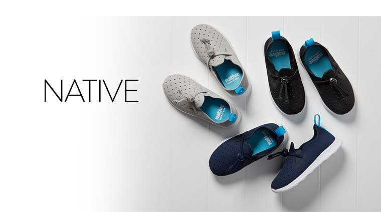 Slip-on sneakers for girls and boys, from Native Shoes.