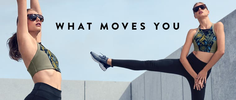 Women's workout and activewear.