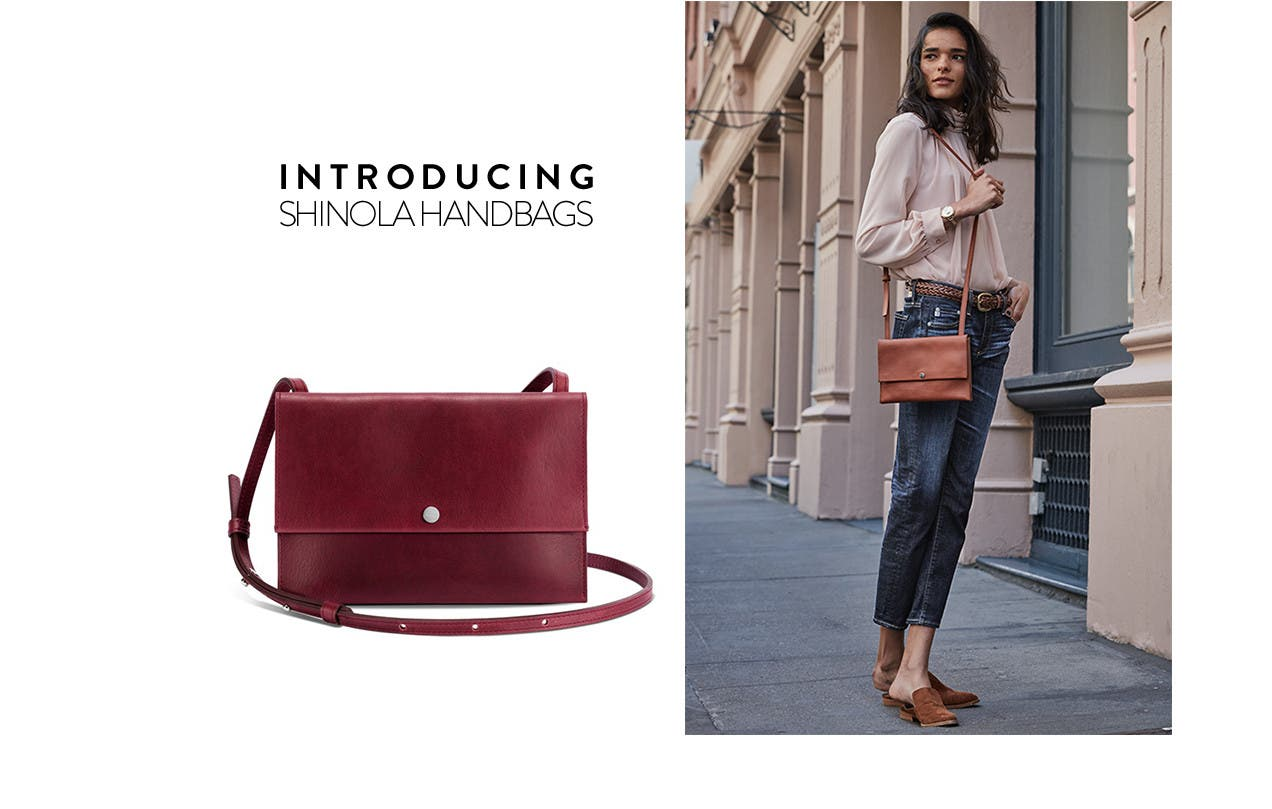 Introducing shinola handbags.