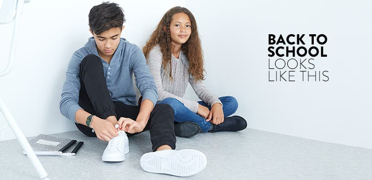 Back to school looks like this: kids' clothing, shoes and accessories.